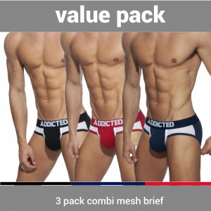 AD845P 3 PACK COMBI MESH BRIEF