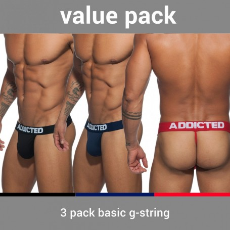 AD746P 3 PACK BASIC G-STRING